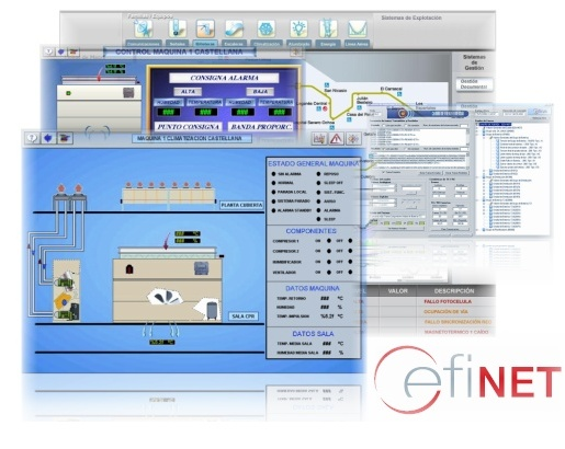 Cefinet is the system that enables to integrate the supervision of big control rooms and mobile telephony station infrastructures, no matter what their technologies are.